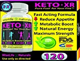 KETO XR Fat Burner Max: Ketogenic Energy Booster Complex Thermogenic Diet Pill that Work Fast for Women and Men, Green Tea, Coffee Bean Extract Raspberry Ketone, African Mango, Resveratrol 120 Veg Cap