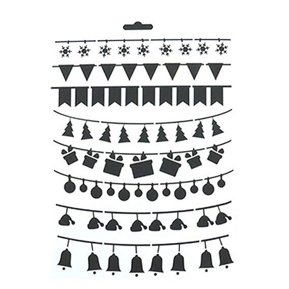 BIGBOBA Plantillas Molde de Navidad Plantilla de Plantilla Navidad Patrón de Renos de Bricolaje Pintura Molde Utilizar para DIY álbum: Amazon.es: Ropa y ...