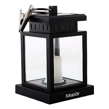 Mabor Luz Vela Solar LED Exterior Farolillo de Jardín Lámpara de Exterior Impermeable Linterna Colgante con