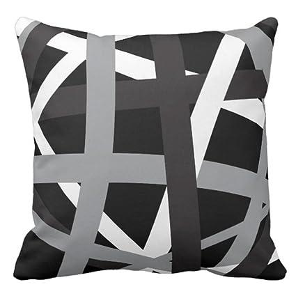 Amazon Com Emvency Throw Pillow Cover Gray Black Stripes Design