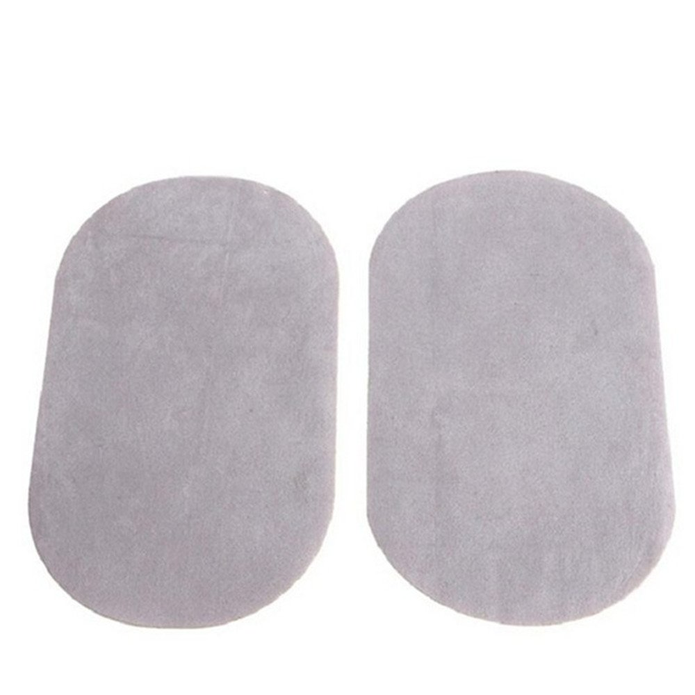 26Pcs DIY Applique Suede Leather Patches Sewing Applique Iron-on Elbow Knee Repair Decor Patches,Light Grey by goodxy