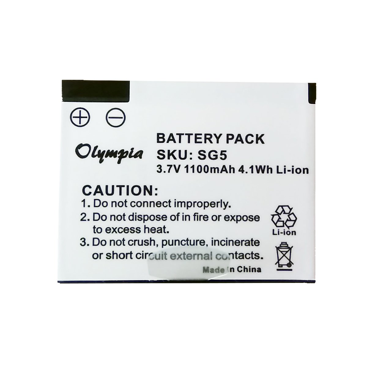Skygolf SG5 Battery - Replacement Battery for Skygolf SG5 Rangefinder (1100mAh, 3.7V, Li-Ion)