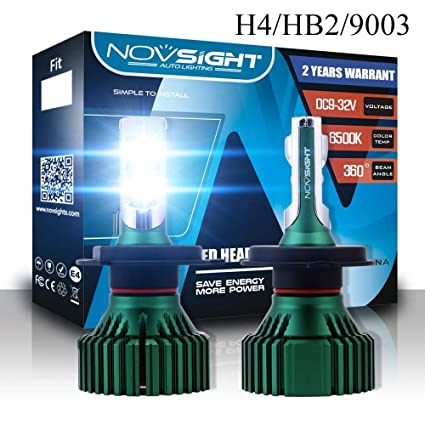 LED 30W 9003 HB2 H4 Red Two Bulbs Head Light Replacement Motorcycle Bike