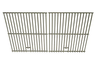 Weber 9869 Stainless Steel Grates For Genesis Silver B and C, Genesis Gold  B and C, Genesis 1000-3500, Spirit 700 Gas Grill Models, Set of 2