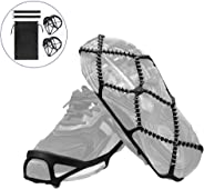 HONUTIGE Ice Grips, Traction Cleats for Walking, Jogging, or Hiking on Snow and Ice, Anti Slip Unisex Outdoor Crampons Over Shoe/Boot Traction Cleats