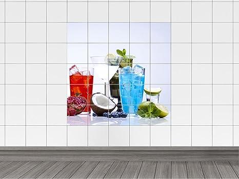 Piastrelle adesivo piastrelle immagine cocktail con cocco e