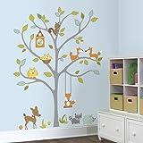 RoomMates 54333 RM - Dekosticker Waldtiere auf Dem Baum