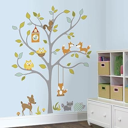 RoomMates Woodland Fox and Friends Tree Peel and Stick Wall Decals & RoomMates Woodland Fox and Friends Tree Peel and Stick Wall Decals ...