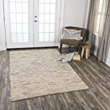 Rizzy Home CAVCAV10400040576 Cavender Hand-Woven Area Rug, 5'x7'6, Beige