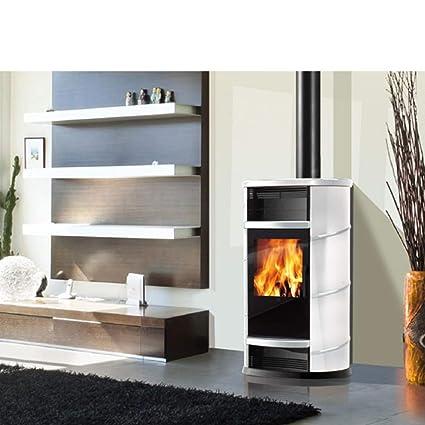 Estufa de leña con cierre magnético de aire 9 kW Edilkamin horno de aire caliente