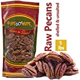 5-Pounds of 100% Natural Raw Pecan Nuts- Whole, Shelled & Unsalted Pecan Halves by We Got Nuts- Non GMO, No Preservatives- Ko