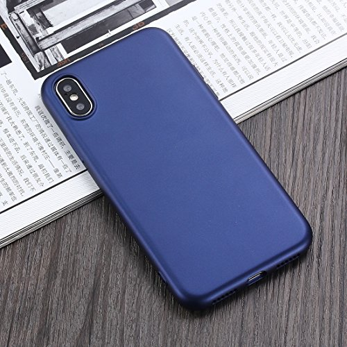 MXNET Caso para el iPhone X, cubierta completa de la caja protectora de TPU de la cobertura de 360 grados ( Color : Black ) Dark blue