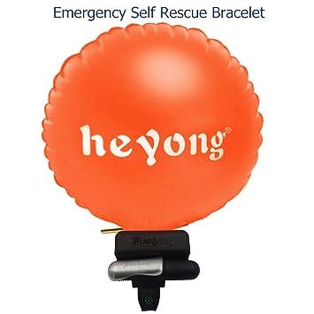 Dispositivo Portátil de ahogarse rescure flotador muñequera con bolsa de hinchable, diseño de cilindro de CO2 para adultos niños: Amazon.es: Deportes y aire ...