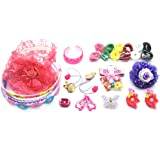Ziggle 32 Pcs Hair Accessories Fashion Clips For Girls