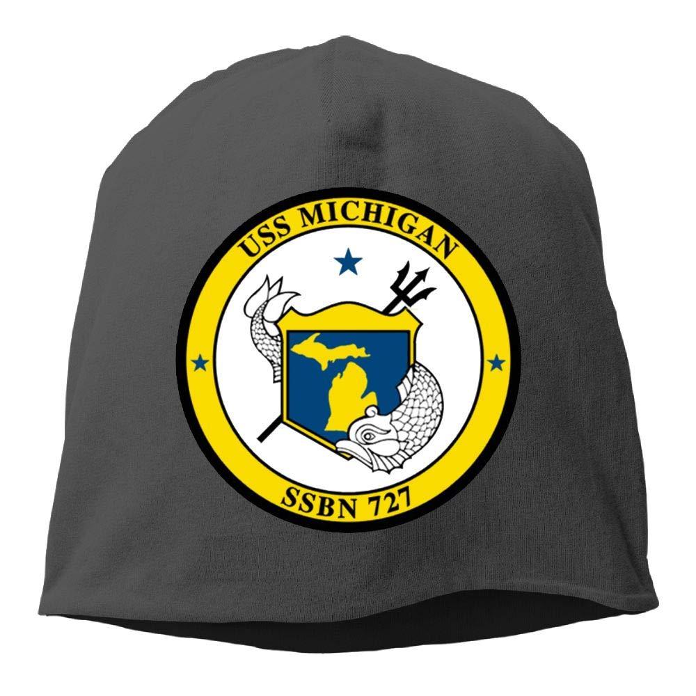 JTTYU Navy USS Michigan SSBN-727 Unisex Winter Warm Hats Men Women Hat Skull Cap