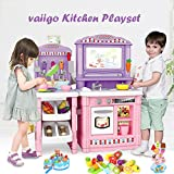 VAIIGO Happy Chef Kitchen Playset Role Playing Game with Sounds, Lights, Water Features (70pcs)