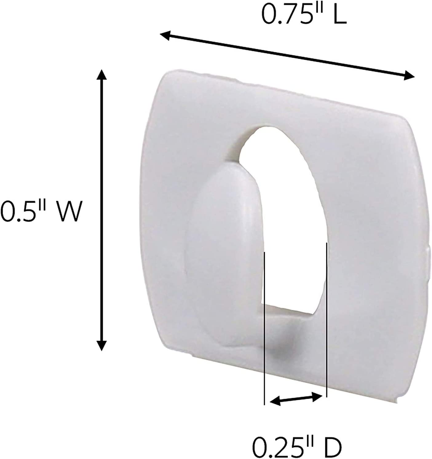 17026-40ES 1 40-Clips Decorate Damage-Free White Command Decorating Clips