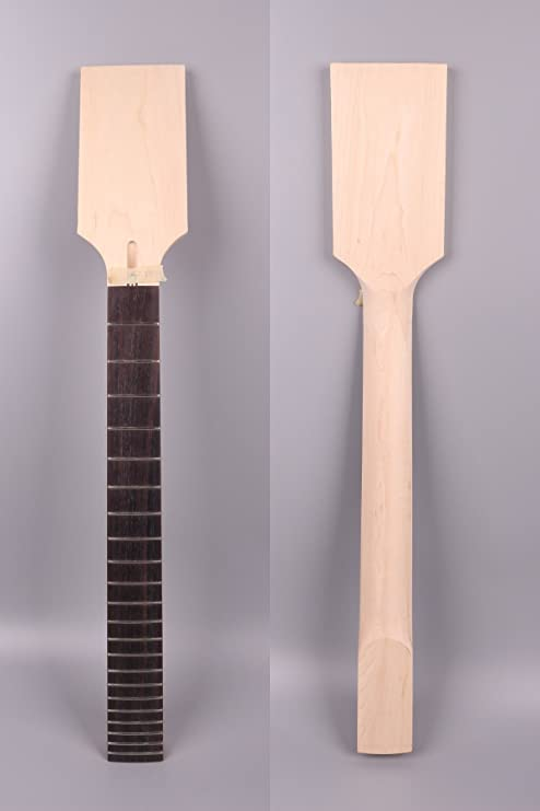 Pendientes de guitarra eléctrica Cuello de repuesto de 22 trastes para ST LP estilo Paddle cabezal