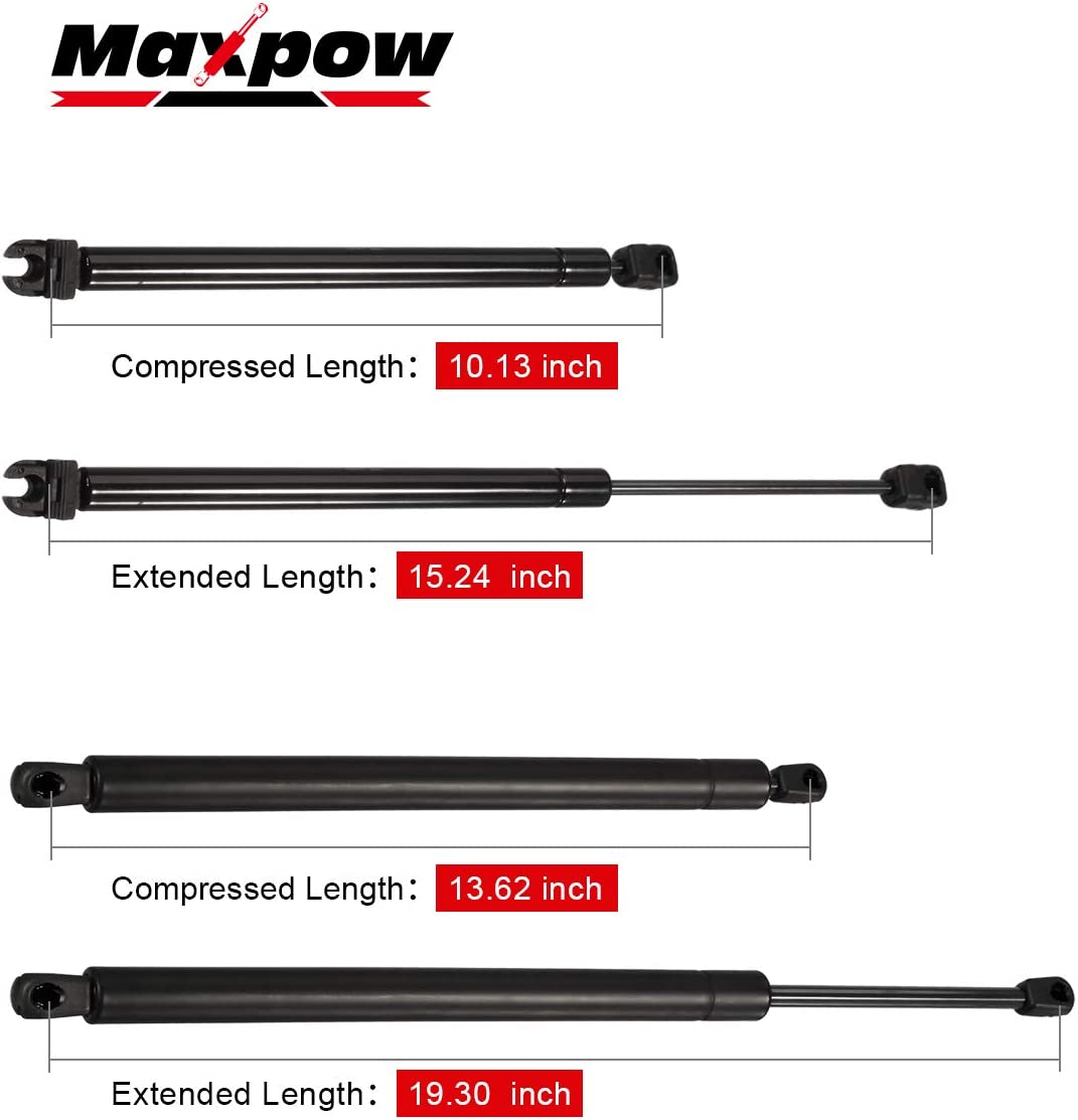 Maxpow 2pcs Tailgate /& 2pcs Rear Window Lift Supports shocks Struts Compatible With Pathfinder 2005-2010 6110 6607