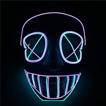 Queta Carnival EL Glowing Line - Máscara de luz fría con luz ...