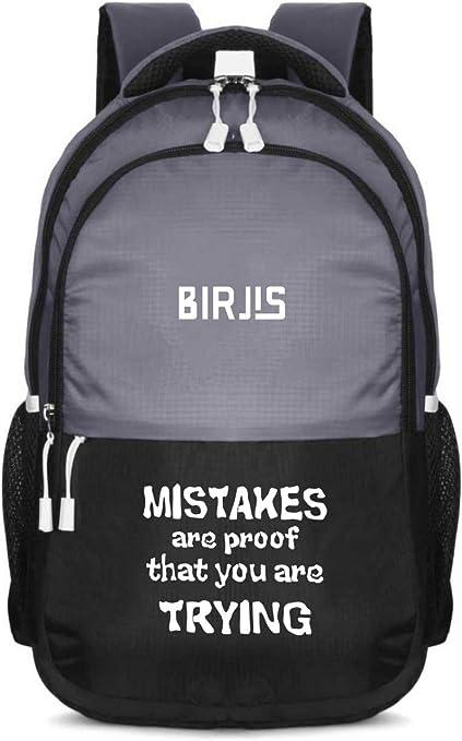 BIRJIS 104GY Waterproof Laptop Backpack  Grey  21 L Laptop Backpacks