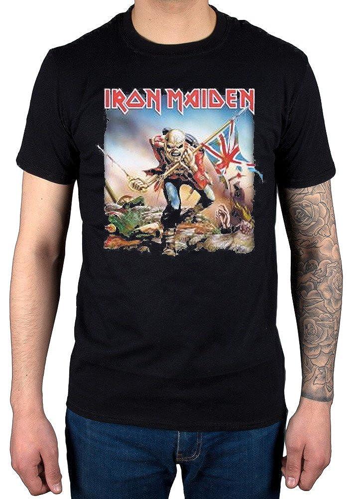 bf8ba5cd Official Iron Maiden The Trooper T-Shirt Album Rock UK Heavy Metal Band:  Amazon.co.uk: Clothing