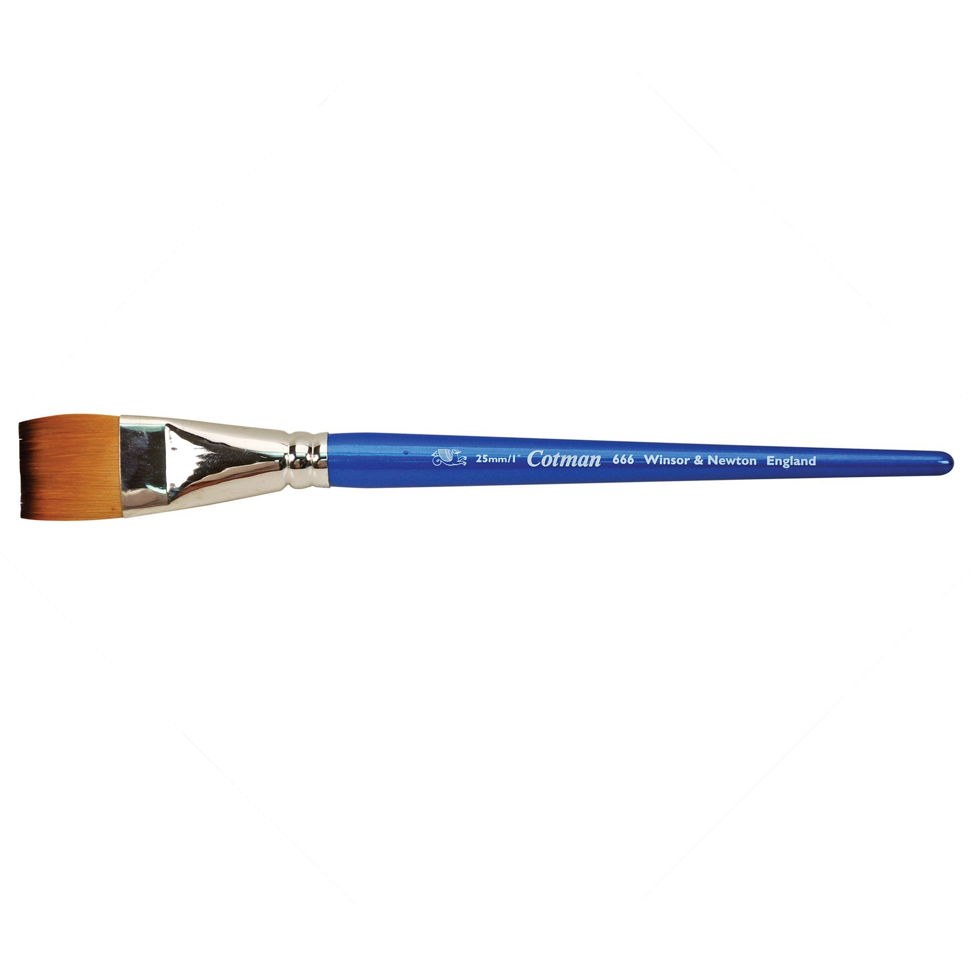 Winsor & Newton Cotman Water Colour Series 666 Short Handle Synthetic Brush - One Stroke 1'' by Winsor & Newton