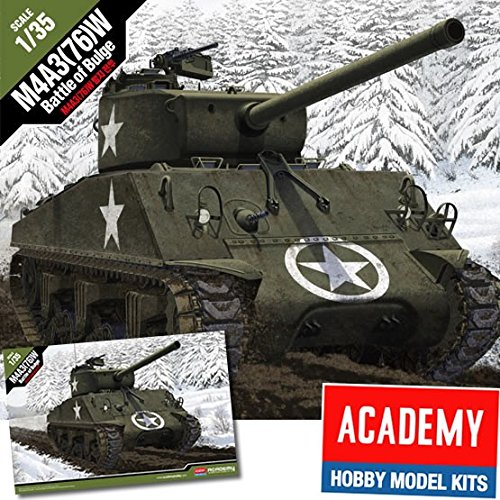 Academy 1/35 M4a3(76)w Sherman ''battle Of The Bulge'' # 13500