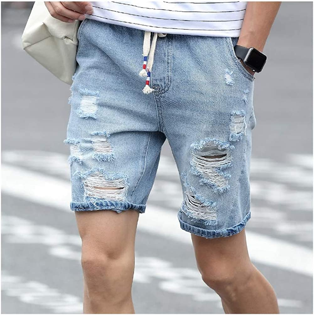 Mens Denim Shorts Slim Large Size Casual Knee Length Short Hole Jeans  Shorts Men at Amazon Men's Clothing store