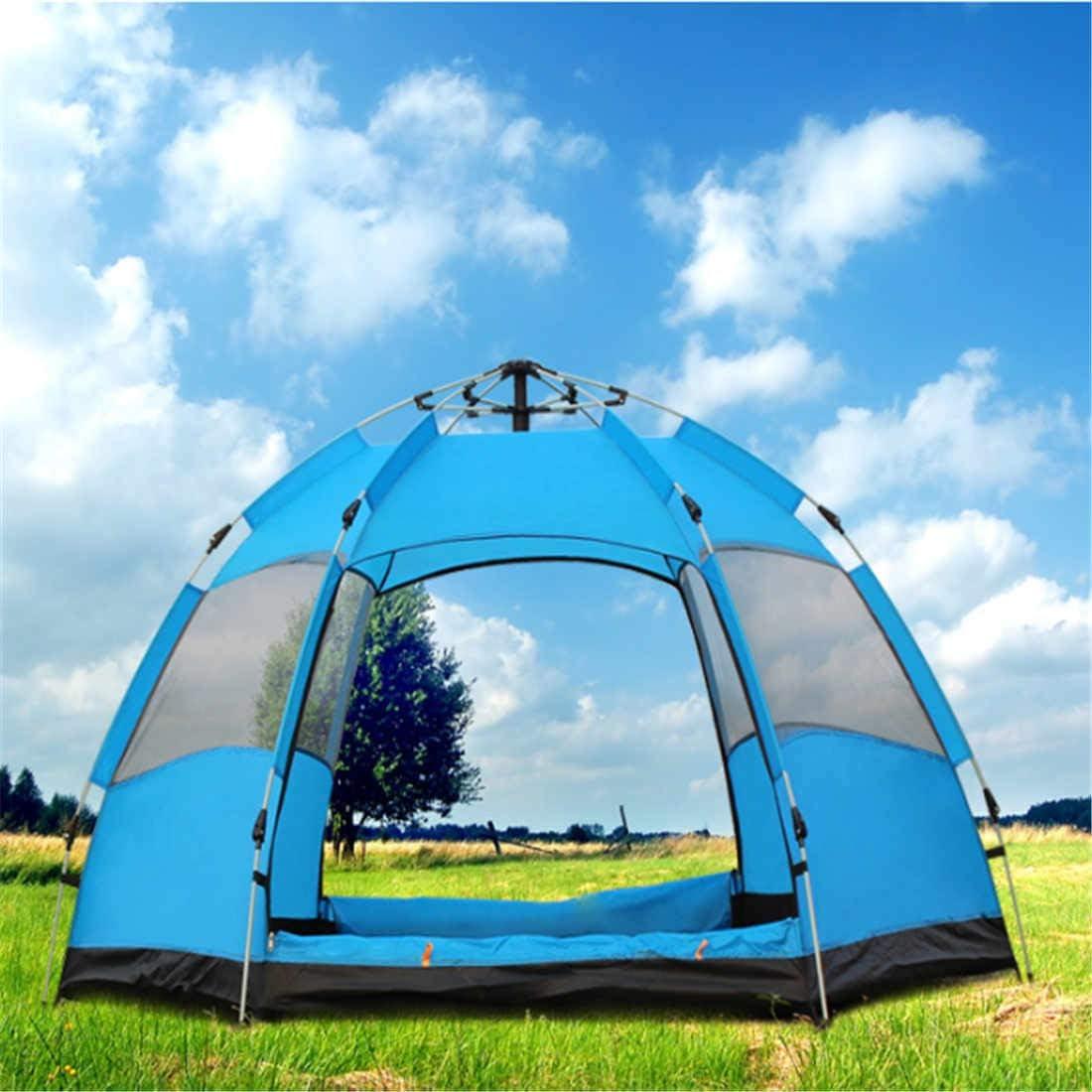 5-8 Persona automática de Doble Capa Hexagonal Carpa Camping al Aire Libre a Prueba de Lluvia Carpa Double hexagon