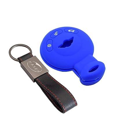 kaser Funda Silicona para Llave Mini – Carcasa Llaveros para Coche Mini Cooper One Countryman SD Clubman F57 Cabrio Cover Case Protección Mando ...