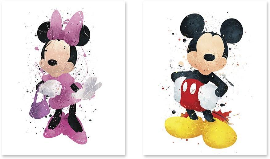 Kids wall decor Mickey Mouse Nursery Room Prints 3 or 4 print sets