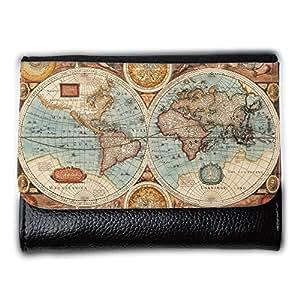 le portefeuille de grands luxe femmes avec beaucoup de compartiments // V00002401 1626 Antiguo mapa // Medium Size Wallet