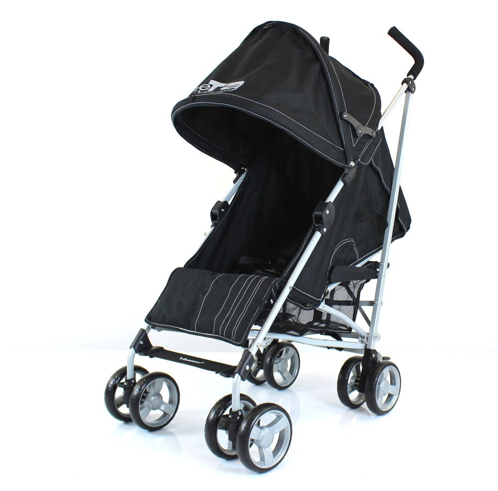 ZeTa Vooom Stroller Buggy Pushchair Black Dots Many Colours Available Inc Raincover