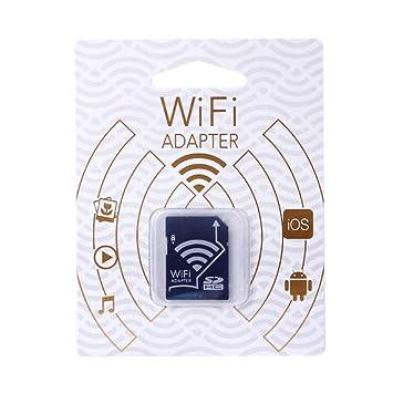 RGBS WiFi - Adaptador de Tarjeta de Memoria inalámbrica TF a Tarjeta SD SDHC SDXC para iPhone, iPad y Android