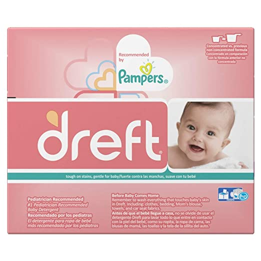 Amazon.com: Dreft Concentrated Sensitive Powder Laundry Detergent, 40 Loads, 53 Oz: Kitchen & Dining