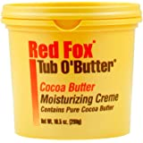 Red Fox Tub O' Butter Cocoa, Moisturizing Creme 10.5 oz