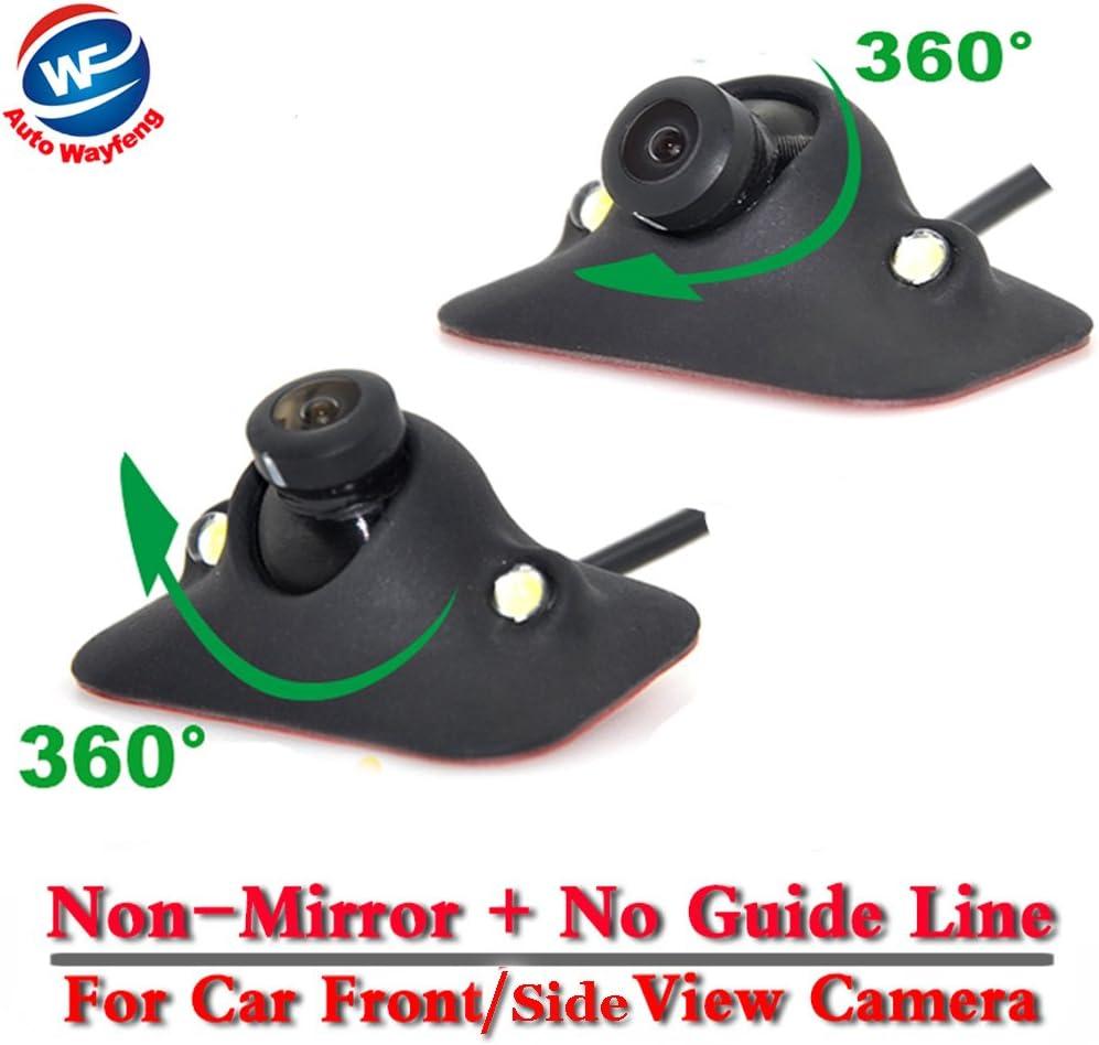 Auto Wayfeng WF/® HD CCD Vision Nocturne Cam/éra Avant /à 360 degr/és Cam/éra Frontale Vue lat/érale Inverser cam/éra de Sauvegarde 2 LED
