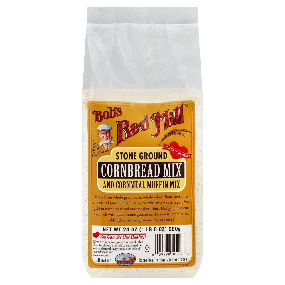 Bobs Red Mill Muffin Mix Cornbread 24.0 OZ(Pack of 6)