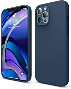 elago Liquid Silicone Case Compatible with iPhone 12 Pro Max 6.7 Inch (Blue) - Full Body Protection (Screen & Camera Protection)