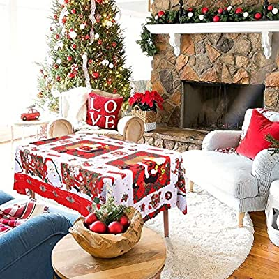 WISFORBEST Mantel Navideño Rectangular - Patrón de Papá Noel ...