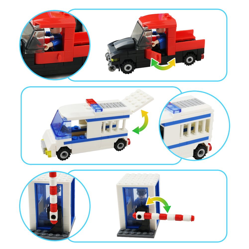 Blocks Building Toys Konstruktion Montage Police Station Set für Kinder Kinder