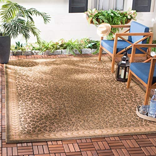 Safavieh Courtyard Collection CY6100-39 Natural and Gold Indoor/ Outdoor Area Rug 5'3″ x 7'7″