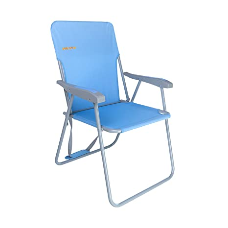 #WEJOY Lightweight Portable Folding Outdoor Lawn Camp Beach Chair with  Shoulder Strap Pocket, Low/High Seat, Blue