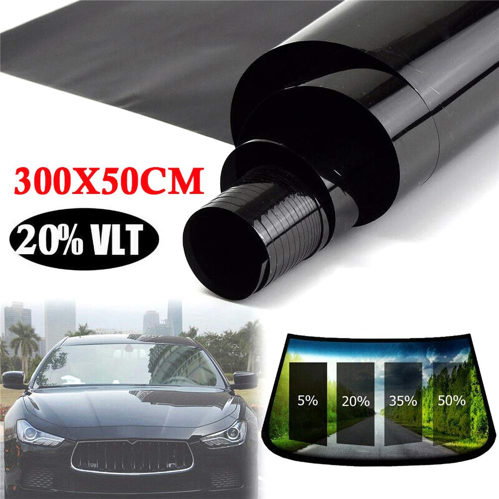 BONNIO Car Window Film Solar Control Glass Film Privacy One Way Espejo Pel/ícula Reflectante Sunblock Pegatina