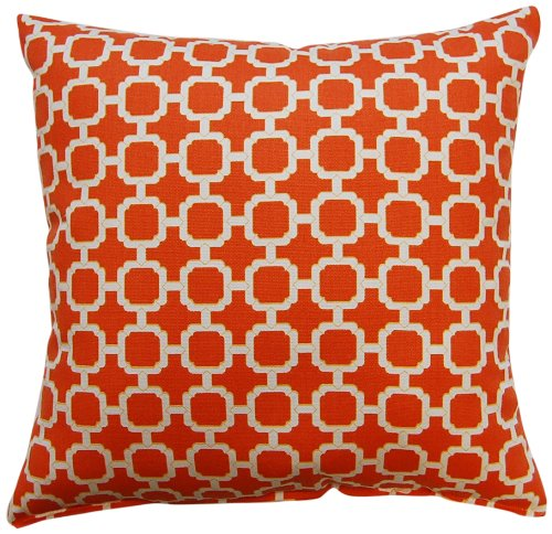 Dakotah Pillow Set, Hockley, Mandarin, Set of 2 - Set of two; Made in the USA 100% Polyester Hand or spot clean only - living-room-soft-furnishings, living-room, decorative-pillows - 61LANeTx9hL -