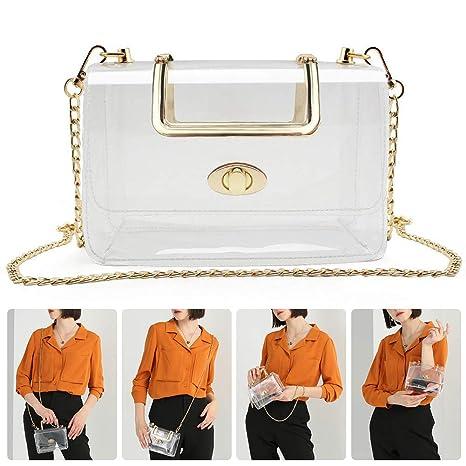 Amazon.com: QHTER - Bolso de mano transparente para mujer ...