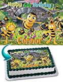 Bee Movie, Maya the Bee Edible Cake Topper Personalized Birthday 1/4 Sheet Decoration Custom Sheet Party Birthday Sugar Frosting Transfer Fondant Image ~ Best Quality Edible Image for cake