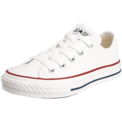 5b5eb1bf5dc Amazon.com | Converse All Star Low Optical White Kids/Youth Shoes  Girls/Boys Sneakers (2.5) | Sneakers