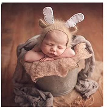 Newborn Baby Photography Props Boy Girl Crochet Costume Outfits Cute Deer  Hat  Amazon.co.uk  Baby 989f2cca6ce1